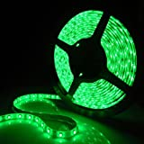 SUPERNIGHT (TM) Green 5M Waterproof 300 LEDS 3528 SMD Flexible LED Light Lamp Strip 12V 24 Watt