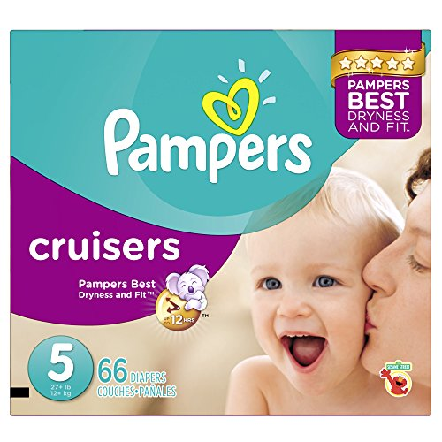Pampers Cruisers Diapers, Size 5, 66 count - 1