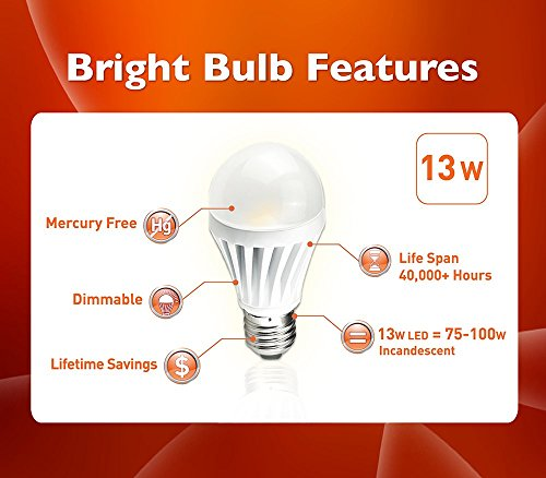 Led Light Bulb 13w Brightbulb Led Lightbulbs A19 High