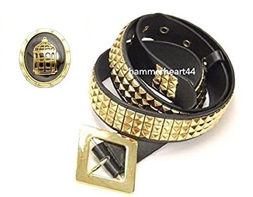 Harley Quinn Gold Pyramid Studs Belt Costume with Limited Edition Pendant