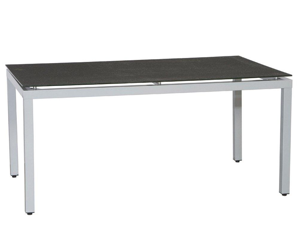 Siena Garden 500822 Tisch Sydney, silber Spraystoneplatte schwarz L 160 x B 90 x H 74 cm online kaufen