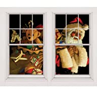 WOWindow Posters Santa with Toy Sack…