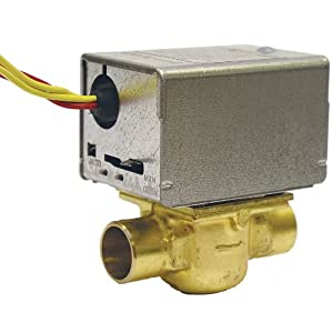 Honeywell V8043E1012 24V 2-Position, Normally Closed Straight Through 3/4-Inch Zone Valve Solder Connection