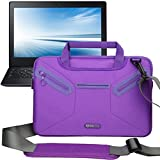 Evecase Multi-functional Neoprene Messenger Case Tote Bag for Samsung Chromebook, Galaxy Note Pro 12.2 P900 /P905, Tab Pro 12.2, ATIV Smart PC Pro 700T / 500T - Purple