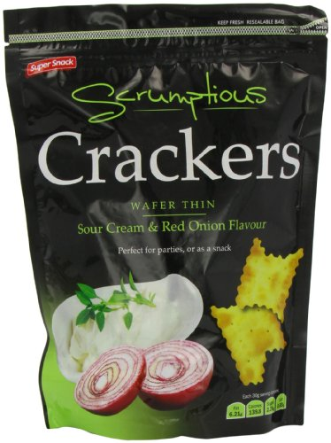 Super Snack Sour Cream and  Onion Scrumptious Crackers 150 g (Pack of 12)