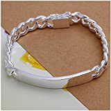 NYKKOLA Beautiful Jewellery 925 Solid Silver Classic Design Bracelet For Women Mens