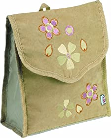 Bell Automotive 22-1-33321-1 Tan Retro Flower Litter Bag