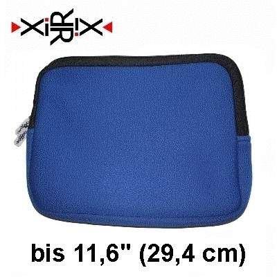 XiRRiX Premium Neopren Netbook Mini Notebooktasche Universal - Sleeve - Größe: bis 11,6 Zoll (29,4 cm) - Farbe: neon blau (bulk)