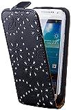 iCues �tui � rabat avec strass pour Samsung�S4�Mini Noir Samsung Galaxy S4 Mini noir