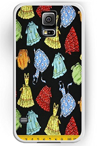 Sprawl Beautiful Vintage Design Hard Shell For Samsung Galaxy S5 Hard Plastic Back Case For Women -- Teenage Girl Short Skirt And One-Piece Dress