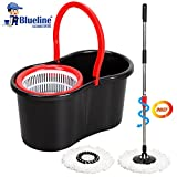 Blueline Magic Spin Mop Set With Easy Clean SR1000 Black