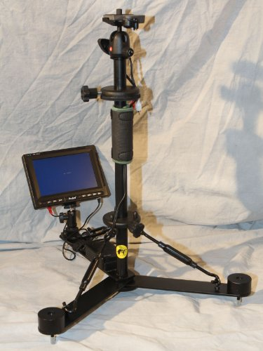 Auxiliary Panpilot Steady Cam and Tripod with 7 inch LCD (Black)
