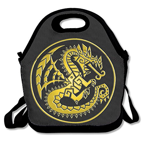Fox Customzied Golden Monster Hunter 4 Ultimate Logo Multifunction Lunch Tote Bag With Adjustable Straps