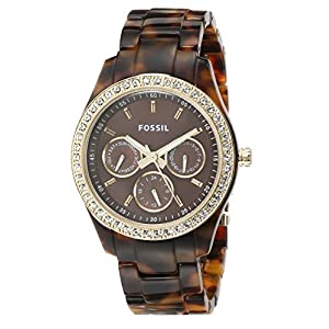 Fossil Women's ES2795 Stella Multifunction Resin Watch - Tort with Gold-Tone