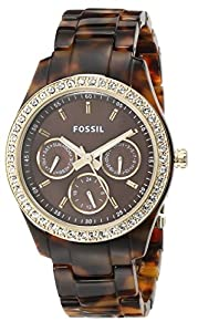 Fossil Women's ES2795 Plastic Analog with Brown Dial Watch