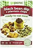 GoPicnic Ready-To-Eat Meals Black Bean Dip & Plantain Chips 4.0 oz boxes (Pack of 6)