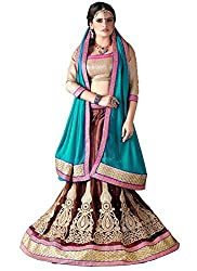 Khushi Trendz Women's Net Semi-Stitched Lehenga Choli Set_KT9195_Multicolored_Freesize