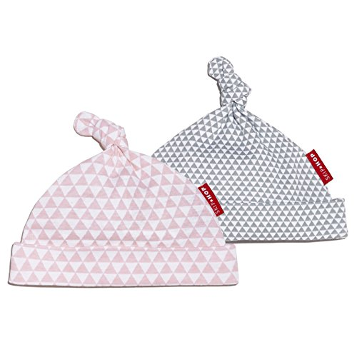 SkipHop Baby-Girls Newborn Petite Triangles Caps, Pink, One Size