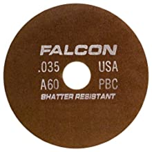Falcon C60QBC Resinoid Bonded Shatter Resistant Tool Room Reinforced Abrasive Cut-off Wheel, Type 1, Silicon Carbide