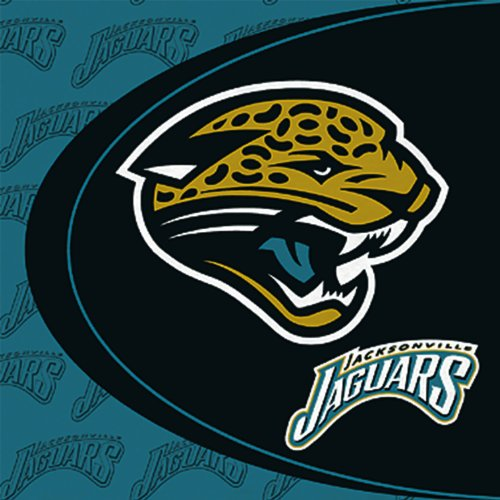 Hallmark Unisex Adult Jacksonville Jaguars Lunch Napkins Black Medium