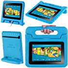 i-Blason ArmorBox Kido Series for All New Kindle Fire HD 7 Inch Tablet [2013 Release / Not Compatible with Kindle Fire HD 7 2012 Release] Light Weight Super Protection Convertiable Stand Cover Case Kids Friendly (Blue)