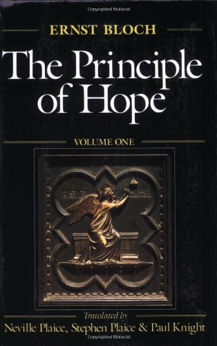 The Principle of Hope, Vol. 1 (Studies in Contemporary German Social Thought)