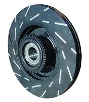 For 2005-2006 Pontiac GTO Rear eLine Slotted Brake Rotors Ceramic Brake Pads
