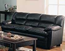 Big Sale Coaster Harper Sofa in Black Leather