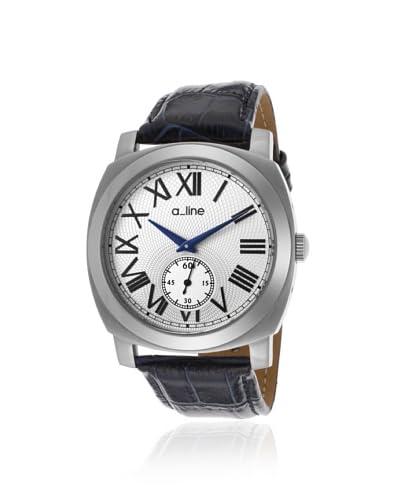 a_line Women's 80023-02-BU Pyar Blue/Silver Leather Watch