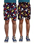 American-Elm Men's Multi Color Printed Shorts-Combo Of 2 (X-Large)
