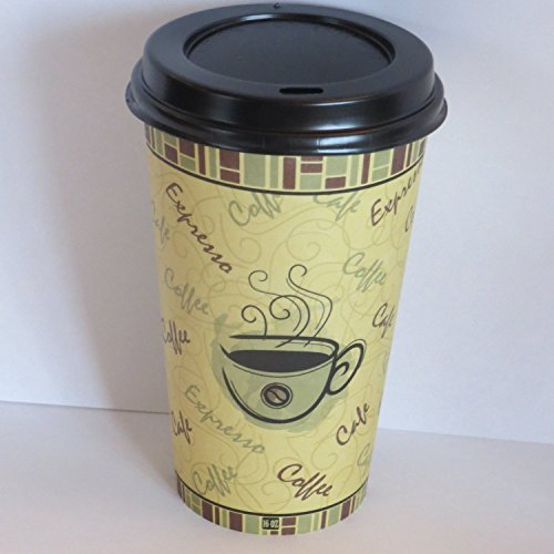8 oz. paper coffee cups with Black dome lids- 100 sets (Small Cups With Lids Disposable compare prices)