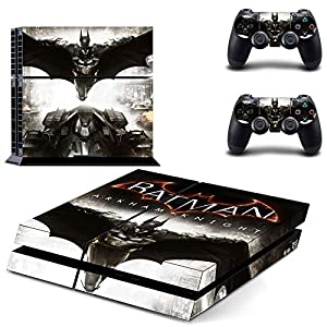 Beyone PS4 Designer Skin for Sony Playstation 4 Console System Plus Two(2) Decals For: PS4 Dualshock Controller - Batman Arkham Knight