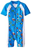 Baby Banz Baby Boys One Piece Swim Suit, Coolgardie Blue, 12 18 Months