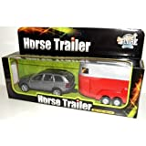 Die-Cast Volvo XC90 With Horse And Trailer - RED TRAILER
