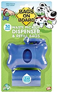 10 X Bags On Board Bone Dispenser, Blue by The Bramton Company