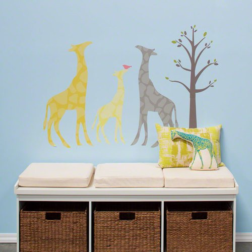 Oopsy Daisy 28 by 35-Inch Peel and Place Modern Giraffe by Stacy Amoo Mensah, Small, Yellow