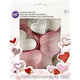 Wilton 2308-2582 7-Piece Valentine's Heart Cookie Cutter Set, Assorted