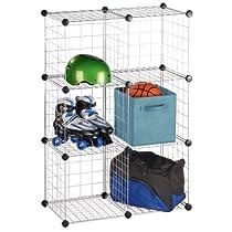 Stacking Wire 6 Storage Cube Set