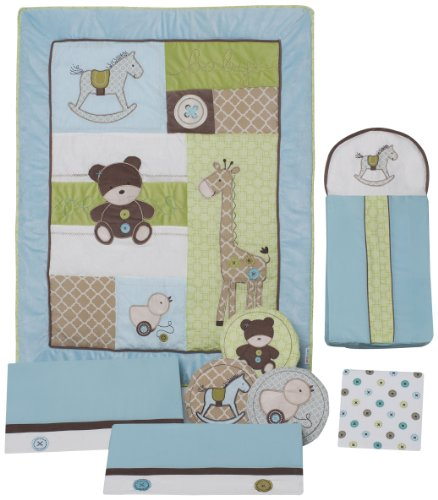 Kids Line Toyland 8 Piece Crib Bedding Set back-1023999