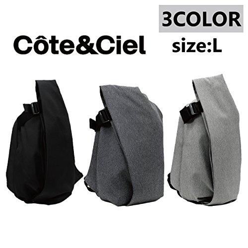Cote&Ciel コートエシエル Isar Rucksack L イザールリュックサック BLACK ブラック 27700 CoteetCiel並行輸入品 Eco Yarn