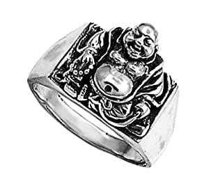 925 sterling silver buddha ring jewelry