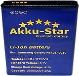 Akku-Star Premium Battery für Samsung Galaxy Nexus, GT-i9250, Nexus Prime (2000mAh/7,4Ah) EB-L1F2HBU, EB-L1F2HVU, EB-L1F2KVK