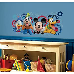 roommates rmk2561gm mickey and friends mickey. Black Bedroom Furniture Sets. Home Design Ideas