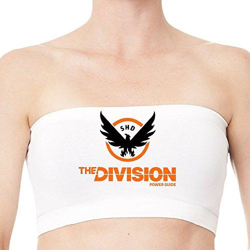 XJBD Fashion The Division Eagle Game Logo Awesome Strapless Bra Top White