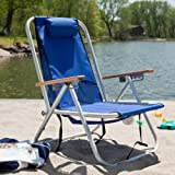 WearEver Aluminum Hi-Back Backpack Beach Chair Color - Royal Blue