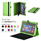 Elsse Premium Folio Case with Stand for Microsoft Surface Pro & Surface Pro 2 (Does not fit Windows 8 RT Version) (Green)