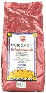 Puroast Low Acid Coffee Half Caff House Blend Drip Grind, 5-Pound Bag