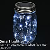 [3 Pack - Solar Mason Jar Lid Insert - String Light] - eLander LED Mason Jar Solar Light, Light up for 8 Hours light and 5 Hours Fully Charged, for Glass Mason Jars and Garden Decor Solar Lights