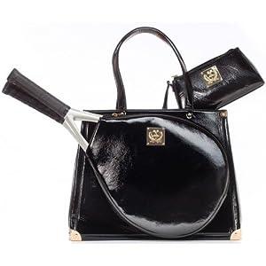 Court Couture, Vintage Karisa Noir Tennis Bag by Court Couture