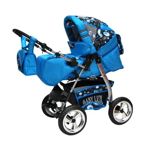 Pushchair Stroller Pram Buggy NEW Colour KING 2in1 Soft Carrying Bag 057 Sky Blue   Cosmic Bubbles